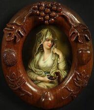 Antique KPM Style Porcelain Plaque 'Lady as Vestal Virgin' Kaufmann painting #18