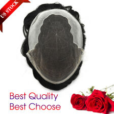 French Lace Front Mens Toupee Mens Hairpieces Bleached Knot natural hairline Q6