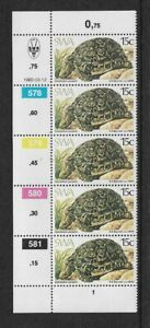 1982 South West Africa Tortoises - Corner Strip With Inscriptions - MNH.