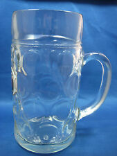"""Huge 8"""" Tall & Dia 4""""  Made in Germany  Glass Beer Mug  Engraved"""