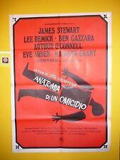 ANATOMIA DI UN OMICIDIO ( ANATOMY OF A MURDER) - OTTO PREMINGER, MANIFESTO '59