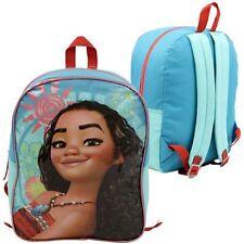 "15"" Disney Moana Blue School Backpack Book Bag for Girls"