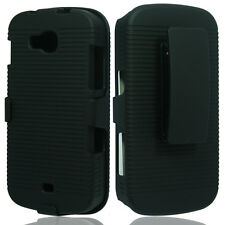 SAMSUNG GALAXY AXIOM R830C ADMIRE 2 BELT CLIP Holster /  SHELL CASE COVER BLACK