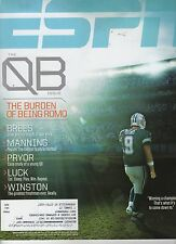ESPN Magazine - Nov 25, 2013 QB ISSUE - Romo Cover - Cowboys Manning Brees Luck