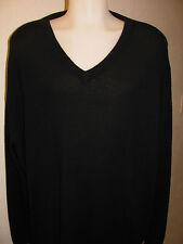 NEW 4XT 4XLT 4XL TALL TURNBURY 100% Merino Wool V-Neck Sweater SOLID BLACK $80