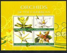 Grenada 2010 Orchids/Flowers/Nature/Plants 4v m/s (n32619)