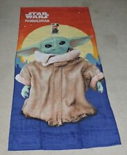 "2020 DISNEY'S STAR WARS SERIES ""THE MANDALORIAN"" BABY YODA BEACH TOWEL"