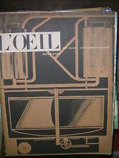 L'oeil N° 18 1956 Le style américain Picabia Riopelle Oluf Braren Art peinture