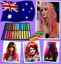 24 Colors Temporary Hair Chalk Dye Set! Soft Pastels Salon Kit! Non- toxic