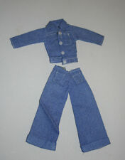 VINTAGE MOD BARBIE & FASHION CLONES NEW NEVER USED BUT OUT F CARD JEANS SET