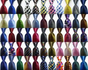 New Checks Classic JACQUARD WOVEN 100% Silk Men's Tie Necktie