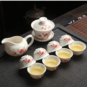 Ceramic Kung Fu Tea Set Drinkware Purple Clay Binglie Include Tea Pot Tea Cup