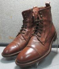271388 PFBT40 Men's Size 9.5 M Brown Leather Lace Up Boots Johnston & Murphy