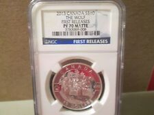 CANADA 2013 $10 PROOF SILVER THE WOLF 1ST RELEASES NGC PF70 MATTE   008