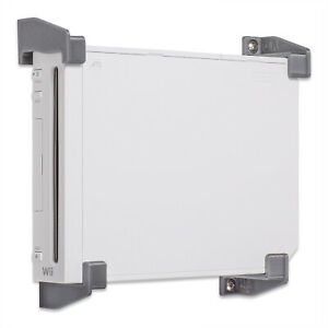 Wall Mount for Nintendo Wii Game Console Wii Wall Bracket Silver P3D-Lab®