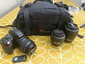 Nikon D3200 24.2 MP Digital SLR Camera - Bundle With Nikon Lenses & Case ++