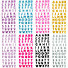 Glitter Crystals 26 Alphabet Letters Stickers Self Adhesive Words Stick On AU