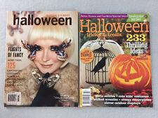 2 Halloween Craft Magazines Martha Stewart 2011 Better Homes & Gardens 2011