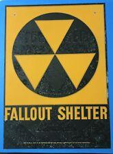 New listing Fallout Shelter Sign - Man Cave Art - Nuclear War - Garage Sign - 1962 Vintage
