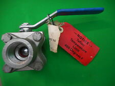USED MCCANNA MARPAC 1SSE32512RT STEEL 316 BALL VALVE F316 BODY  CWP 2000 AT 100F