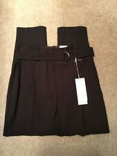 MARKS & SPENCER PER UNA BROWN DRESSY TAPERED LEG TROUSERS SIZE 16 LONG BRAND NEW