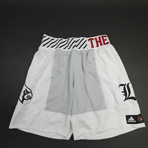 Louisville Cardinals adidas Game Shorts Men's White/Gray New with Tags