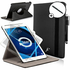 Leather Black Rotating Smart Case Cover Samsung Galaxy Tab A 10.1 SM-T580 Stylus