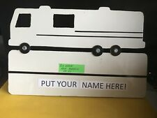 Custom Made Metal Sign Of Rv To Put Your Name & Address On For Mailbox Or Pole