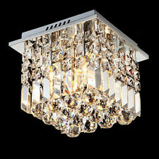 Modern Rain Drop E12 Crystal Chandelier Ceiling Lamp Hallway Lighting Fixture Us