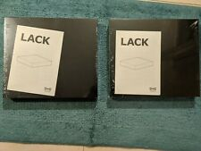 "2 IKEA Lack Black Floating Shelf 11 3/4"" x 10 1/4"" Conceal Mounting - 701.036.22"