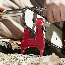 Chainsaw Bar Filing Stump Vise Holder Sharpening Chain Wood Cutting Logger Tool