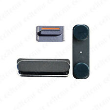 Black Side Button Power Button Mute Switch On/off Volume Key Set for iPhone 5 5G