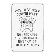 How To Be Truly Content In Life Pug Case Cover for Kindle Paperwhite - Funny Dog