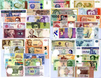 World Banknotes Lot Set 40 Pcs From 27 Countries All UNC