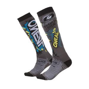 O'Neal Pro MX Men's Socks - Villain Gray - Dirt Bike Motocross