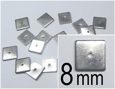 Edelstahl 8 x 8 mm Quadrate 1 mm dick quadratisch Viereck Quader Würfel Spacer
