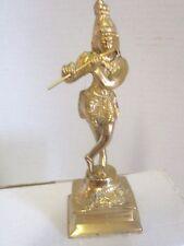 """Krishna Polished Brass Statue - 6.50"""" -  Impressive"""