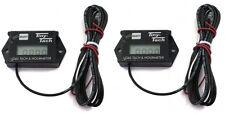 (2) Tiny Tach TT2A Digital Hour Meter Tachometer Adjustable Resettable Job Timer