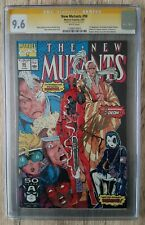 New Mutants # 98 1app Deadpool (signed by Stan Lee 9.6 Certified!!!)