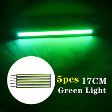 5x Green LED Strip DRL Daytime Running Lights Fog COB Car Lamp Day Driving