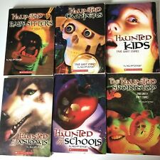 Lot of 6 Haunted Ghost Story books by Allan Zullo 1990's Scholastic Children's
