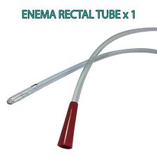 RECTAL ANAL TUBE SUITABLE FOR ENEMAS AND COLONICS - QUANTITY 1