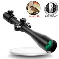 Smooth 10-40X50mm Tactical Optical Sniper Rifle scope for 20mm Mount Riflescope