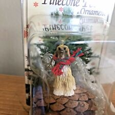 Afghan Pinecone Ornament Tan White Dog New Gift