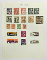 MALTA Stamps on Album Page
