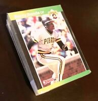 50) BARRY BONDS Pittsburgh Pirates 1989 Donruss Baseball LOT Card #92