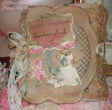 Beautiful OOAK Altered Art Junk Journal Book Sugar & Spice Antique Photos Girls