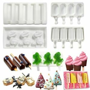 Home Frozen Mould Ice Lolly Maker Popsicle Mould Tray Ice Cream Silicone Mold