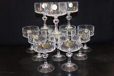Série de 12 coupes à champagne  H 13 cm en cristal d' Arques