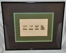 SET OF 4 BEAUTIFUL MINIATURE DRAWINGS SIGNED BY PETER FORD 7/100